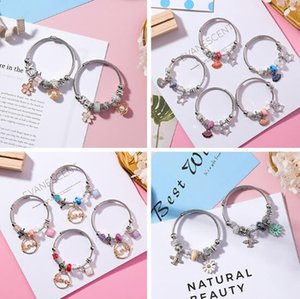 Wholesale DIY beaded cartoon stainless steel adjustable bracelet vintage crystal Cat pendant bracelet creative national style bracelet Valentines Gift