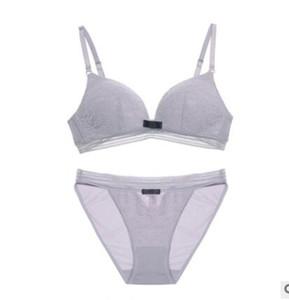 53a5b42d023e 2018 new no steel ring bra set, thin and no trace lady sexy lace underwear.