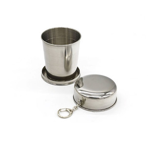Wholesale Big Size ml Stainless Steel Folding Cup Traveling Outdoor Camping Hiking Mug Collapsible Foldable Cup ZA5588
