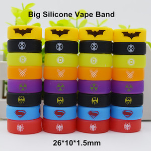 Wholesale Superman Batman Hulk Superhero Silicone Vape Band Silicon Beauty Decorative Ring for TFV8 Big Baby TFV12 Prince Glass Tanks mm