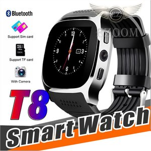 Wholesale Newest For Android T8 Bluetooth Smart Pedometer Watches Support SIM TF Card With Camera Sync Call Message Men Women Smartwatch Watch