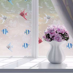 Wholesale shutters for windows resale online - 45x100cm Self Adhesive Glass Window Film Stickers for Bathroom Door Bath Shutters Frosted Flower Paste Glass Art Decals