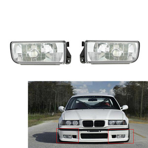 Wholesale For BMW E36 3 Series 1992~1998 Auto Fog Lamp Car Front Bumper Grille Driving Lamps Fog Lights Set Kit without Bulbs