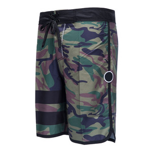 New 2018 Mens Board Shorts Surf Boardshorts Quick Dry Army Camouflage Bermudas Masculinas Beach Swim Short Pants Elastic