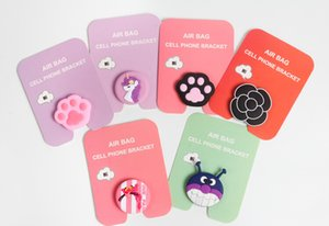 Wholesale 2018 new Cell phone bracket Cute Dolls air bag Phone Expanding Stand Finger Holder many colors to choose