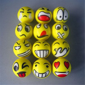 Wholesale Fun Emoji Face Squeeze Balls Modern Stress Reliever Relax Emotional Hand Grips Wrist Exercise Stress Balls Muscle Power Training