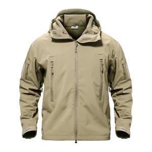 Wholesale softshell tactical jackets resale online - Fashion Men Military Jacket Men Softshell Waterpoof Camo Clothes Tactical Camouflage Army Hoody Cool Jacket Male Winter Coat