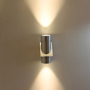 Wholesale Modern Porch Light Outdoor Aluminum Wall Light W Weather Proof Cylinder Wall Sconce Suitable for Garden and Patio