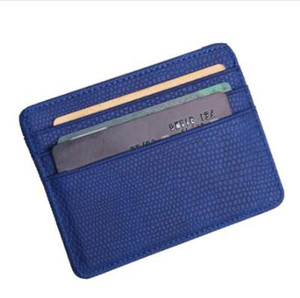 Wholesale Fashion Women Lichee Pattern Bank Credit Card Holder Female Leather Card Package Coin Purse Business card holder porte carte