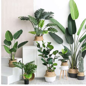 Wholesale Artificial Plants Green Turtle Leaves Garden Home decor Bouquet Mexican Autumn Decoration artificial grass plant