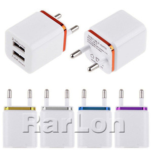 Wholesale Metal Dual USB wall Charging Charger US EU Plug A AC Power Adapter Wall Charger Plug port for Samsung Galaxy Note LG Tablet Ipad