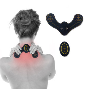 Wholesale New Smart EMS Muscle Fitness Muscle Toner Electric Rechargable Stimulator Massager TENS Neck Pain Relief ABS Fit