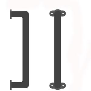 Solid Cast Iron Sliding Barn Door Pull Handle Handrail Grab Bar Elegant Design For Cabinets Closets Interior Wooden Doors