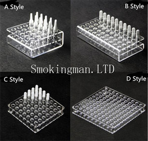 Wholesale Acrylic display clear stand shelf holder base vape rack box show case for Cartridge CE3 A3 G2 G5 WT36 Atomizer Holder