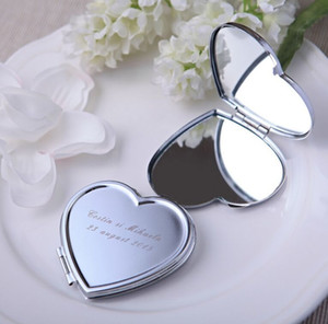 Personalized Wedding Gift And Favor For Guest With Purse Bag Customized Heart Make-Up Mirror Baby Bridal Favour Party Boda on Sale