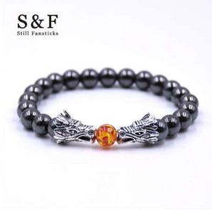 Wholesale Buddha Bracelet Men Bracelets For Women Pulseira Masculina Mens Jewelry Dragon Bileklik Pulseira mm Stone Beads Elastic Braslet