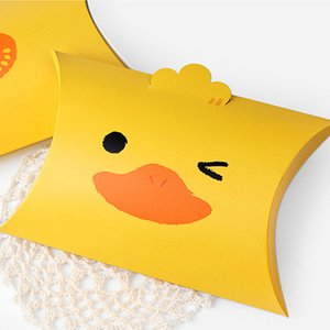 Wholesale 100 x Creative Cute Cartoon Brown Bear Yellow Duck Candy Gift Box Birthday Party Favor Candy Bags