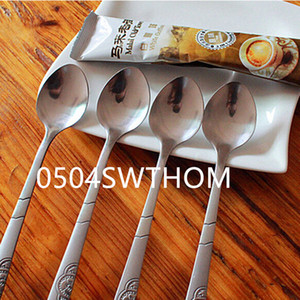 Wholesale 6 piece Stainless Steel Spoons Long Handle Spoon for Drinking Tools Kitchen Spoons Gadget Drop Shipping Kitchen Accessories