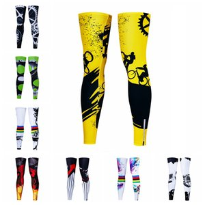 Men Women UV Protection MTB Bike Bicycle Cycling Leg Warmers Sports Running Sun Leg Sleeves Leggings Gear Black Green Yellow