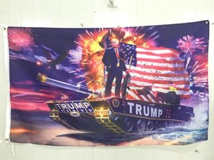 Wholesale Donald John Trump Amercia Flags Polyester Canvas Head Metal Grommet Personality Unique Decortive Flag Indoors Outdoors Tools ym gg