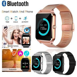 Wholesale Hot Sale Z60 Bluetooth Smart Watches SmartPhone Watch Stainless Steel Wristband inch Wrish Smartwatch with Camera SIM TF Card