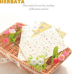 Wholesale HERBATA Korea Cute Cartoon Mini Colorful Paper Envelope Kawaii Small Baby Gift Craft Envelopes for Wedding Letter