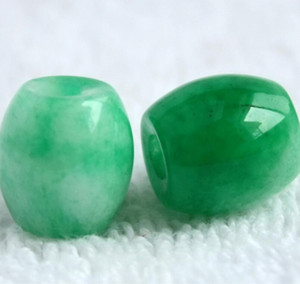 Wholesale Emerald Malay jade transfer Pearl Road jade pendant happiness charm transfer bead free delivery