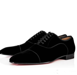 Wholesale mens oxford shoes resale online - Brand Fashion Gentleman Red Bottom Shoes Greggo Orlato Flat Genuine Leather Oxford Shoes Mens Walking Flats Wedding Party Suede Dress Loafer