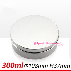 Wholesale 300g large size aluminium cream jars ml big Round Tins Sliding Lid Container oz Dressing Jar with Slip Over Cover for Solid Perfume