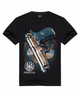 Cool BERETTA'S Gun Image Men's 3D Print Short Sleeve T-Shirt J72