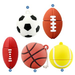 unidad de memoria flash usb de dibujos animados al por mayor-Pendrive Football Stick USB GB GB GB GB Cartoon Basketball Flash Drive USB Flash Memory Disk GB Pen Drive