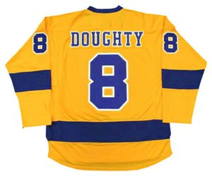 Wholesale DREW DOUGHTY Los Angeles Kings 1967 Gold Hockey Jersey All Stitched Top-quality Any Name Any Number