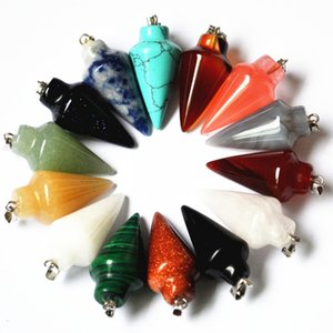 Wholesale pretty Natural Stone Pendants for Necklaces pretty charms necklace for jewelry Making