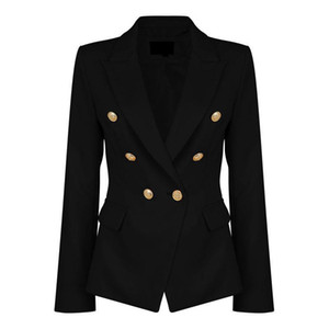 Wholesale Ladies Black Blazers Feminino Formal Jacket Women Short Slim White Jackets Female Long Sleeve Business Suit WS2509C L18101302