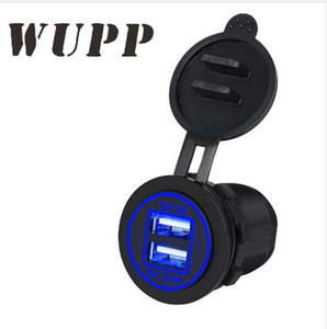 Universal Blue 3.1A Dual Usb Car Charger Adaptor Waterproof Cigarette Lighter Socket For Iphones Android Phones