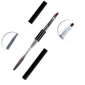 Wholesale Poly Gel Double Head Use Nail Art Brush Draw Painting Black Pen For Nail Gel Polish Extension UV Gel Building Pen