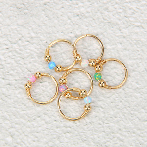 high-quality Stainless Steel nose ring, Lip ring, nose nail, Australian treasure puncture jewelry, Europe and the United States popular Opal