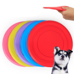 Wholesale New Fantastic Pet Dog Soft Silicone Flying Disc Dog Tooth Bite Resistant Training Toy Pet Play Frisbee