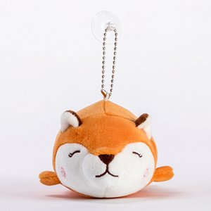 New Q Version Of The Fox Plush Doll Pendant Soft Cute Flannel Toy Dolls Men And Women Cute Plush Key Chain Bag Jewelry