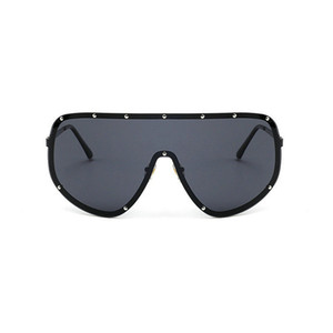 Wholesale MINCL Oversized XXL Huge Large Shield Wrap Designer Womens Polarized Sunglasses Men and women fashion unique sunglasses FML