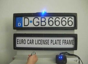 Wholesale promotion products resale online - Promotion product Car License Plate Frame European Remote Control Car Licence Frame Cover Automatic Plate Privacy EURO and Russia size