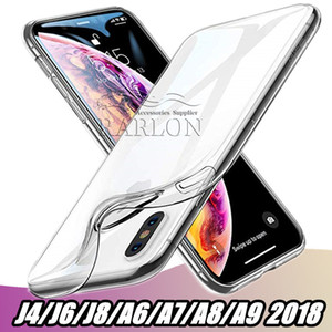 Wholesale Slim Clear Soft TPU Case Crystal Gel Case Ultra Thin transparent Phone Cases For Samsung Galaxy J4 J6 J8 A6 A7 A8 A9 Star S9 S8 Note9