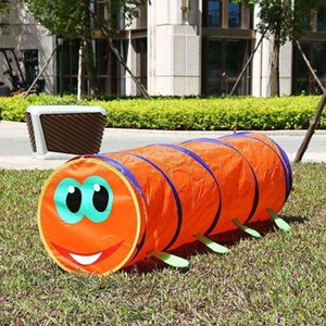 Wholesale Children s Tent Caterpillar Crawling Animal Tunnel Baby Puzzle Toys Indoor and Outdoor Kids Play Tent Christmas Birthday Gift