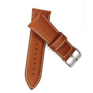 Wholesale Vintage Leather Watch Strap Watch Band mm Italy Oily Genuine Leather Light Brown Watchband For Woman Watches
