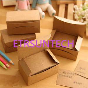 Wholesale memo card resale online - Creative Kraft Paper Memo Pad Sticker Message Card Post Sticky Notes Notepad Word Cards Boxes QW8031