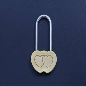 New New 1PCS NEW Padlock Love Lock Engraved Double Heart Valentines Anniversary Day Gifts top Quality