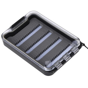 Wholesale waterproof fly boxes resale online - Portable Fishing Baits Case Waterproof Slit Foam Fly Fishing Hook Storage Box Fishing Tackle Boxes Pesca Carp Tool Accessories