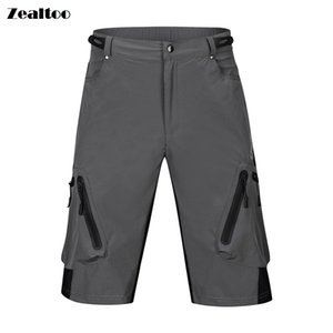 Zealtoo cycling trousers Men Black Khaki Cycling Shorts Summer Downhill MTB Shorts Mountain Road Bike Shorts Cycle Short For Outdoor Sports on Sale