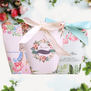 Wholesale Candy Box Bag Packing Creative Starry Sky Flamingo Rabbit Easter Nougat Gift Wrap Cookies Box Hot Sale wh V