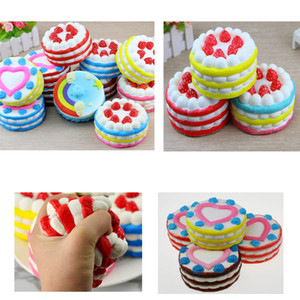 Wholesale hot sale cm Squishy Slow Rising Strawberry Cake and Heart shaped cake Slow Rising s Cream Cake